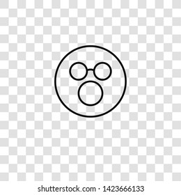 stunned icon from emoji collection for mobile concept and web apps icon. Transparent outline, thin line stunned icon for website design and mobile, app development