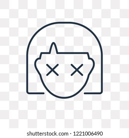 Stunned vector outline icon isolated on transparent background, high quality linear Stunned transparency concept can be used web and mobile