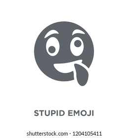 Stupid emoji icon. Stupid emoji design concept from Emoji collection. Simple element vector illustration on white background.