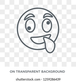Stupid emoji icon. Stupid emoji design concept from Emoji collection. Simple element vector illustration on transparent background.