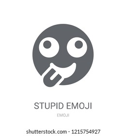 Stupid emoji icon. Trendy Stupid emoji logo concept on white background from Emoji collection. Suitable for use on web apps, mobile apps and print media.