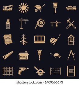 Sturdy construction icons set. Simple set of 25 sturdy construction vector icons for web for any design