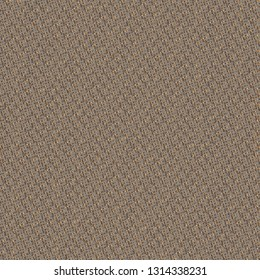 Sturdy fabric with golden and gray oblique stripes. Floor carpet. Upholstery texture. Vector illustration.