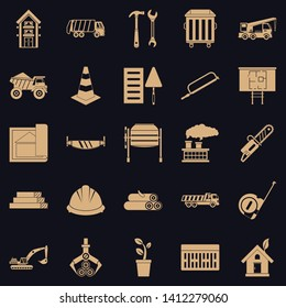 Sturdy house icons set. Simple set of 25 sturdy house vector icons for web for any design