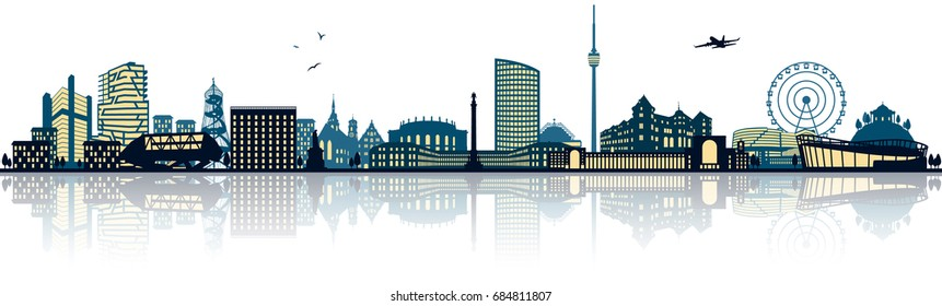 Stuttgart skyline (germany)