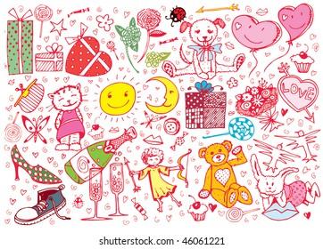 St.Valentine's Day Elements Set(vector)