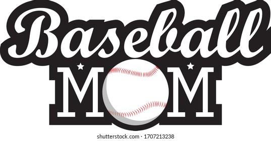 style baseball mom mother day black white printable template t shirt
