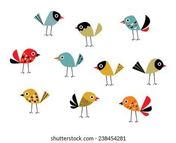 style bird vector
