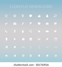Style and clean icons pack for webdesign or mobile design.