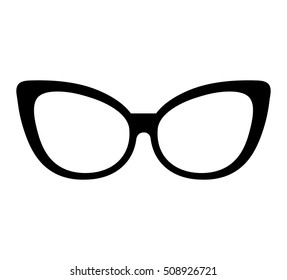 style glasses isolated icon vector illustration design