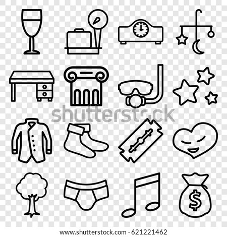 Style Icons Set Set 16 Style Stock Vector Royalty Free 621221462
