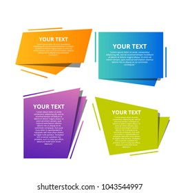 Style text templates speed origami for banner.  Vector abstract geometric origami