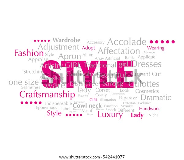 Style Typography Words Fashion Design Can Stock Vector Royalty Free 542441077