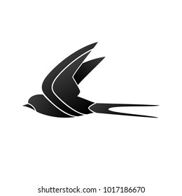 styled swallow silhouette