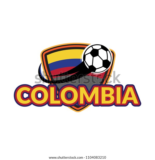 Styles flag of Colombia football