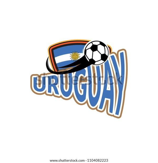 Styles flag of Uruguay football