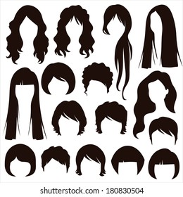 styles hair silhouettes, woman hairstyle