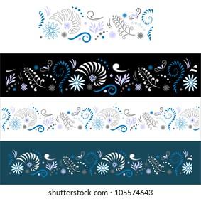 Stylised Maori Koru Seamless Color Border