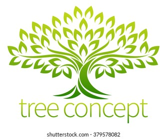 A stylised tree icon symbol concept illustration