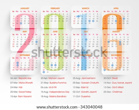 stylish 2016 yearly calendar design holidays stock vector royalty