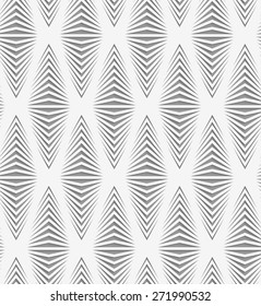 Stylish 3d pattern. Background with paper like perforated effect. Geometric design.Perforated paper with onion shapes.