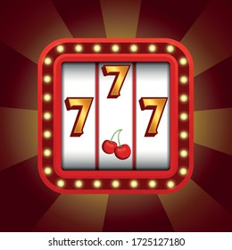 Stylish 777 icon for a casino or slot machine application. See more icons and other graphics for games in my profile.