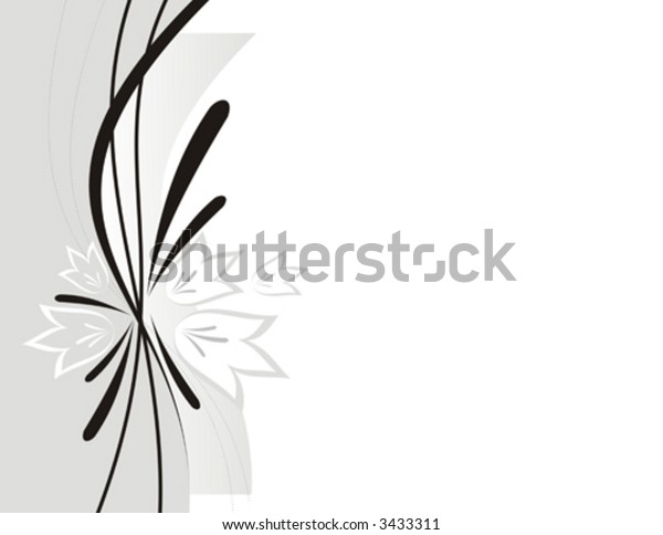 The stylish abstract illustration consisting of strips and flowers