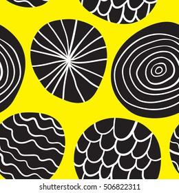 Stylish abstract retro pattern. Seamless vector