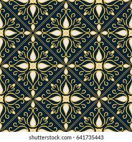 Stylish arabic seamless pattern. Vector illustration