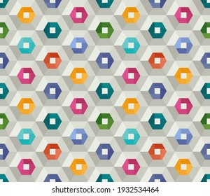 Stylish background with bright hexagons