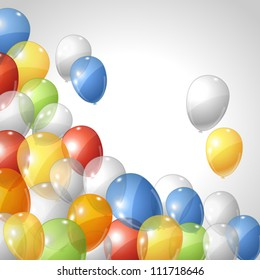 Stylish background with flying balloons. Vector eps 10.