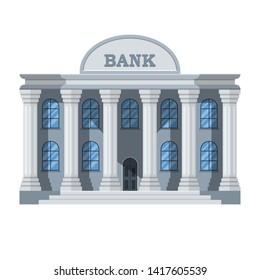 Stylish bank building vector design illustration isolated on white background
