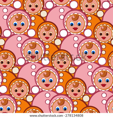 dd324377d Stylish Beautiful Baby Seamless Pattern Toys Stock Vector (Royalty ...