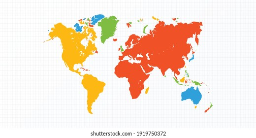 Stylish beautifully colored world map Design || Microsoft Colors Random