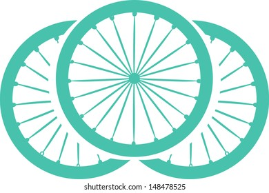 Stylish bicycle and silhouette
