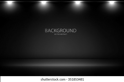Stylish black background with light effects