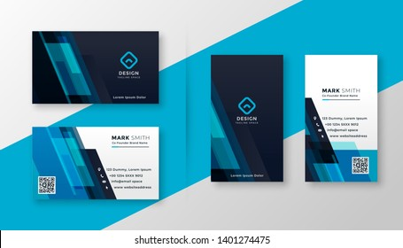 stylish blue elegant business card design