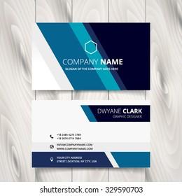 stylish blue stripe vector business card design