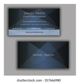 Stylish blue vector business card design