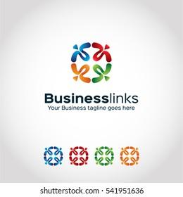 Stylish (Business links) logo template..