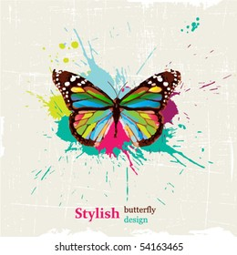 Stylish butterfly design
