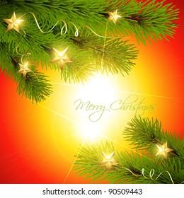 stylish christmas pine tree vector background