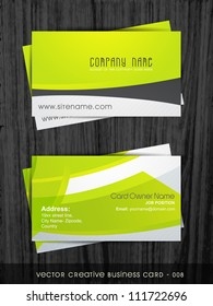 stylish clean and simple business card template
