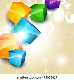 stylish colorful box eps10 vector background