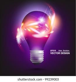 stylish conceptual digital light bulb design