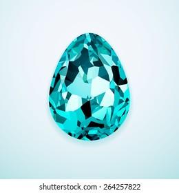 Stylish creative crystal easter egg logo.
