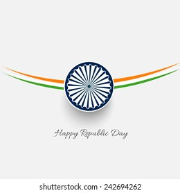 Stylish creative vector background for republic day of India.