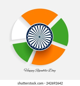 Stylish creative vector illustration for republic day of India.