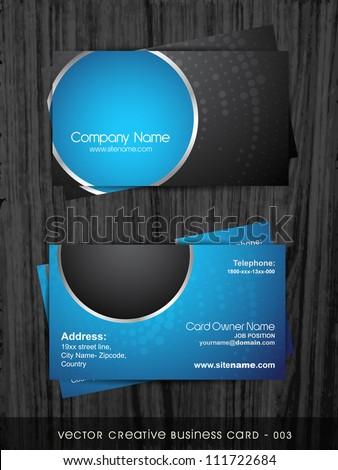stylish dark business card template のベクター画像素材