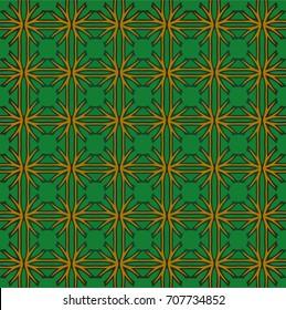 Stylish decorative green pattern
